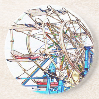 Ferris Wheel-Chalk Outline by Shirley Taylor Coaster