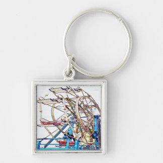 Ferris Wheel-Chalk Outline by Shirley Taylor Keychain
