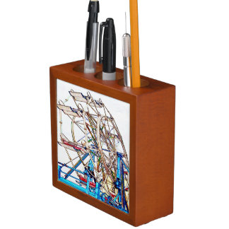 Ferris Wheel-Chalk Outline by Shirley Taylor Pencil/Pen Holder