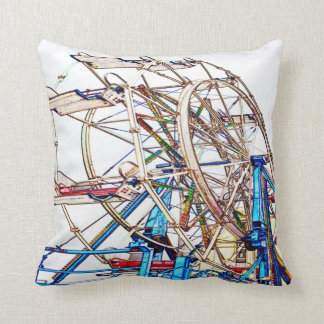 Ferris Wheel-Chalk Outline by Shirley Taylor Throw Pillow