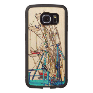 Ferris Wheel-Chalk Outline by Shirley Taylor Wood Phone Case