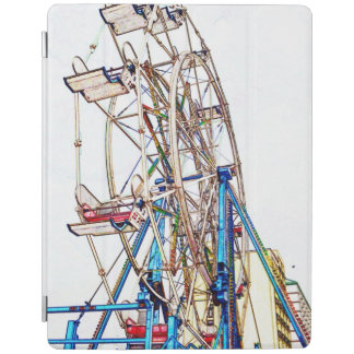 Ferris Wheel-Chalk Outline iPad Cover