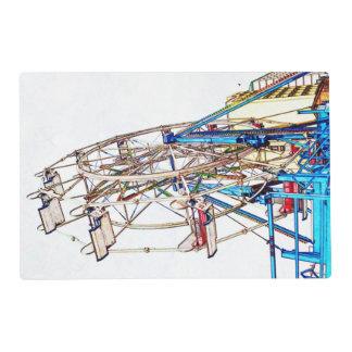 Ferris Wheel-Chalk Outline Laminated Place Mat