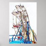 Ferris Wheel-Chalk Outline Posters