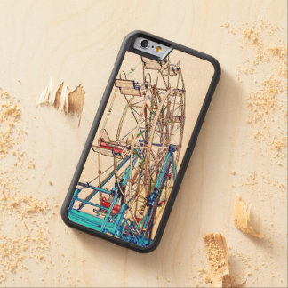 Ferris Wheel-Chalk Outline Carved® Maple iPhone 6 Bumper