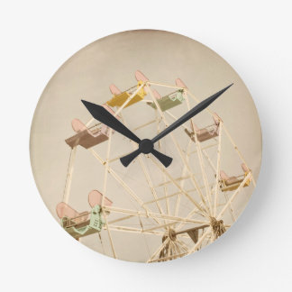 Ferris wheel child size round clock
