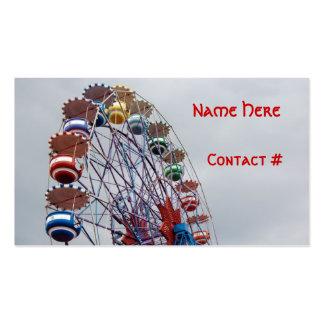 Ferris Wheel Children Play Date Card Business Card Template