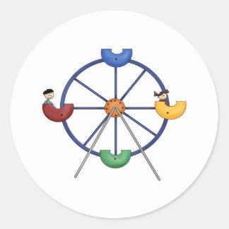 Ferris Wheel Classic Round Sticker