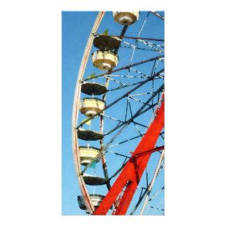 Ferris Wheel Closeup Customized Photo Card