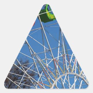 Ferris Wheel closeup Triangle Sticker