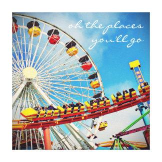 "Ferris wheel  & coaster photo art canvas ""places"""