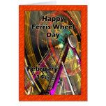 Ferris Wheel Day Note Card  February 14