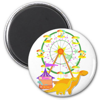 Ferris Wheel Dinos Fridge Magnet