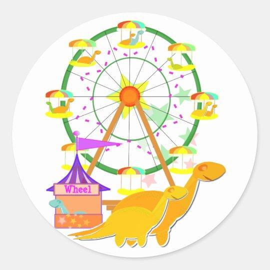 Ferris Wheel Dinosaurs Stickers