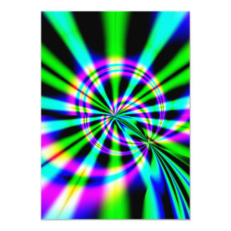 Ferris Wheel Fractal Art 5x7 Paper Invitation Card