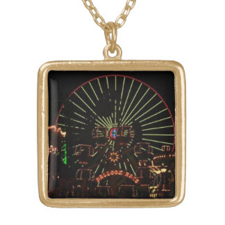ferris wheel gold plated necklace