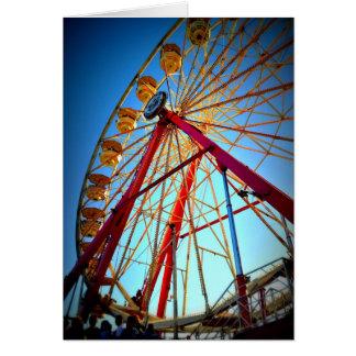 Ferris Wheel ground view Card