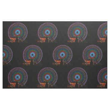 Beach Themed Ferris Wheel - Half Brick Pattern Fabric