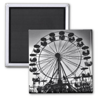 Ferris Wheel in Black And White Magnet