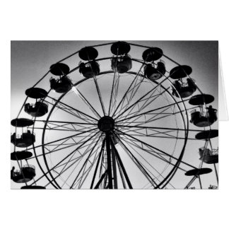 Ferris Wheel in Black and White Photo Gifts Card