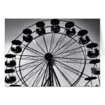 Ferris Wheel in Black and White Photo Gifts Cards