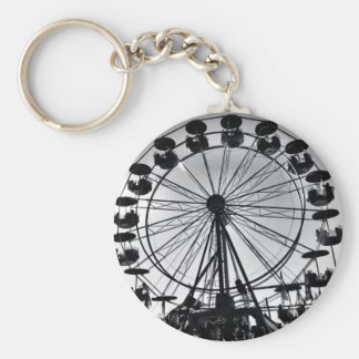 Ferris Wheel in Black and White Photo Gifts Keychain