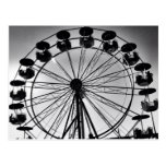 Ferris Wheel in Black and White Photo Gifts Post Cards