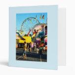 Ferris Wheel in Distance 3 Ring Binder