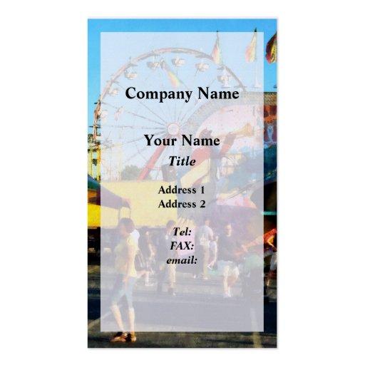 Ferris Wheel in Distance Business Card
