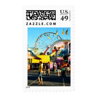 Ferris Wheel in Distance Postage
