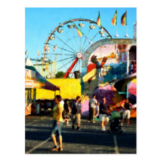 Ferris Wheel in Distance Postcard