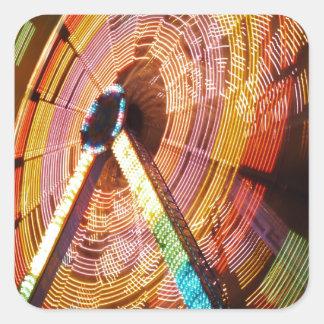 Ferris Wheel in Motion Square Sticker