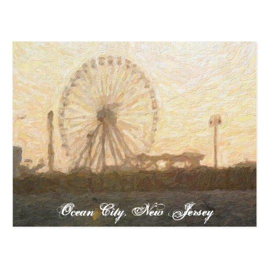 Ferris Wheel in Ocean City, NJ Postcard