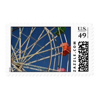 Ferris Wheel in Santa Cruz California Postage