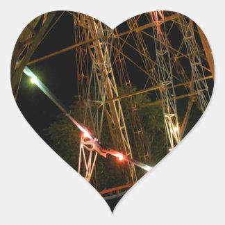 Ferris Wheel in Turkmenistan Heart Sticker