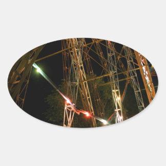 Ferris Wheel in Turkmenistan Oval Sticker