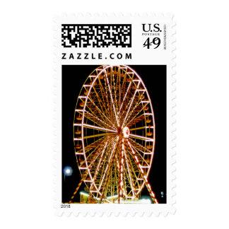 Ferris Wheel Lights up the Night Postage