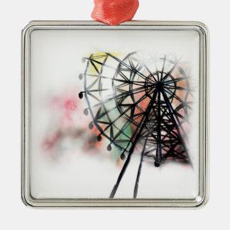 Ferris Wheel Metal Ornament