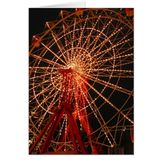 ferris wheel night card