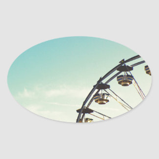 Ferris Wheel Oval Sticker