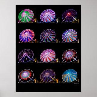 Ferris Wheel Patterns Posters