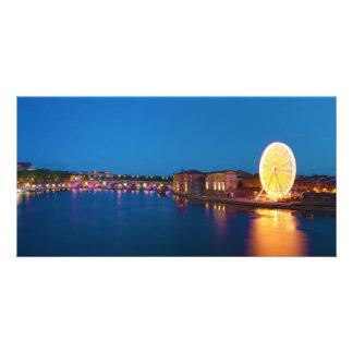 Ferris Wheel Pont Saint-Pierre Toulouse France Photo Card