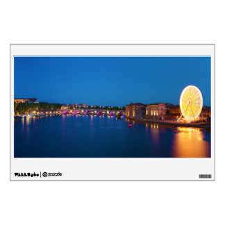 Ferris Wheel Pont Saint-Pierre Toulouse France Wall Sticker