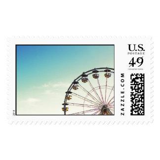 Ferris Wheel Postage Stamp