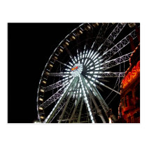 artsprojekt, fair, ferris wheel, festival, carnival, ride, wheel, carnival ride, postcard, Postcard with custom graphic design