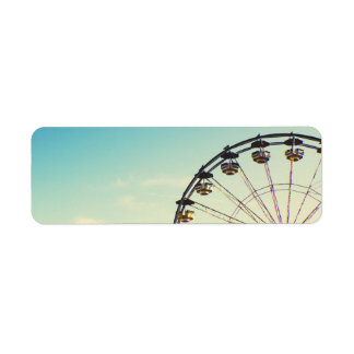 Ferris Wheel Return Address Label