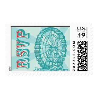 Ferris Wheel RSVP Postage Stamp
