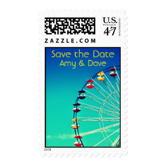 Ferris Wheel Save the Date Postage Stamp