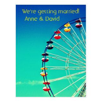Ferris Wheel Save the Date Postcard