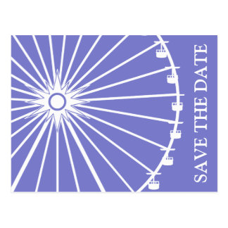Ferris Wheel Save The Date Postcards (Plum Purple)